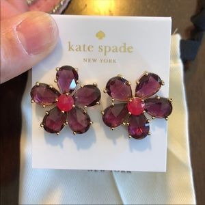 """kate spade Jewelry - New! Kate Spade """"In Full Bloom"""" floral Studs"""